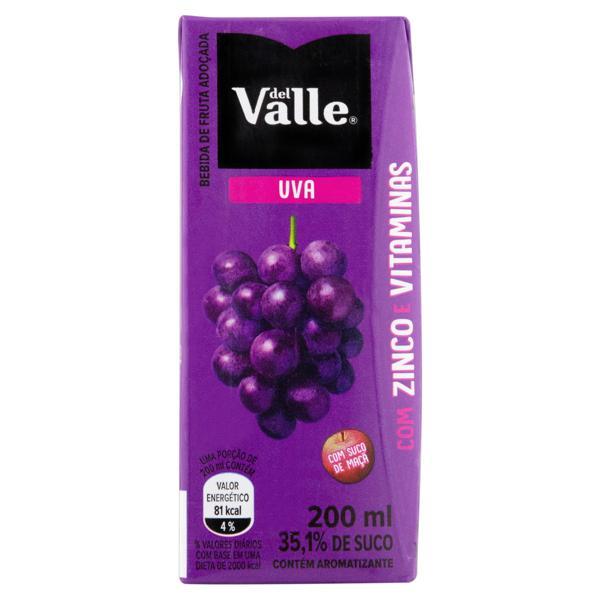 Bebida Adoçada Uva Del Valle Nutri Caixa 200ml