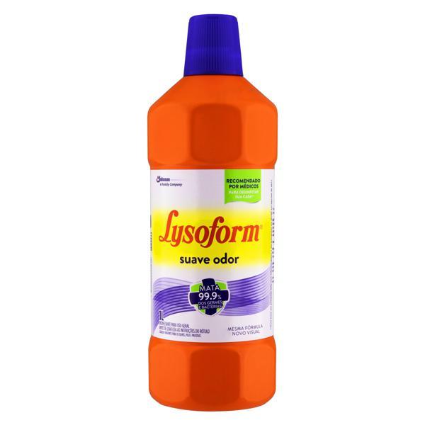 Desinfetante Uso Geral Suave Odor Lysoform Frasco 1l