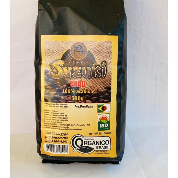 CAFÉ SUZUKI GRÃO ORGÂNICO ESPECIAL 500g