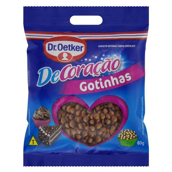 Confeito Gotinhas Chocolate Dr. Oetker DeCoração Pacote 80g