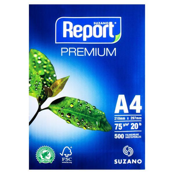 Papel Sulfite Branco Suzano Report Premium A4 500 Folhas