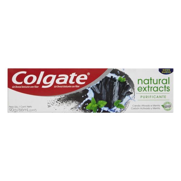 Gel Dental Purificante Carvão Ativado Menta Colgate Natural Extracts Caixa 90g