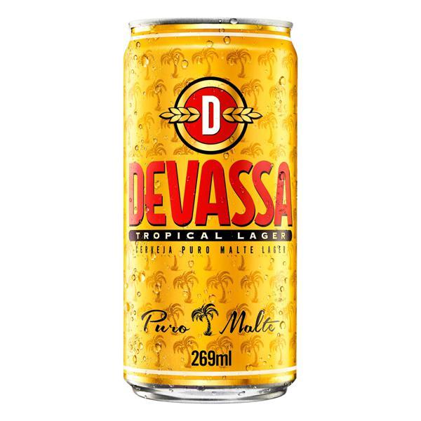 Cerveja Lager Puro Malte Tropical Devassa Lata 269ml