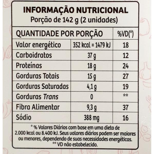 Hamburguer de Grão de Bico e Quinoa Pranic 284g