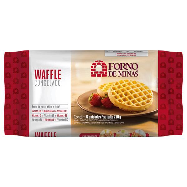 Waffle Congelado FORNO DE MINAS Tradicional 210g