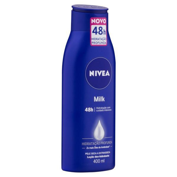Loção Deo-Hidratante Corporal Nivea Milk Frasco 400ml