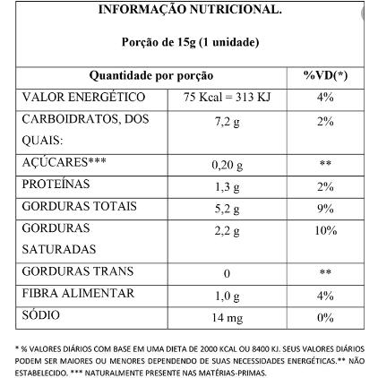 Bombom Recheado Creme Extra Cacau Zero Flormel 15g