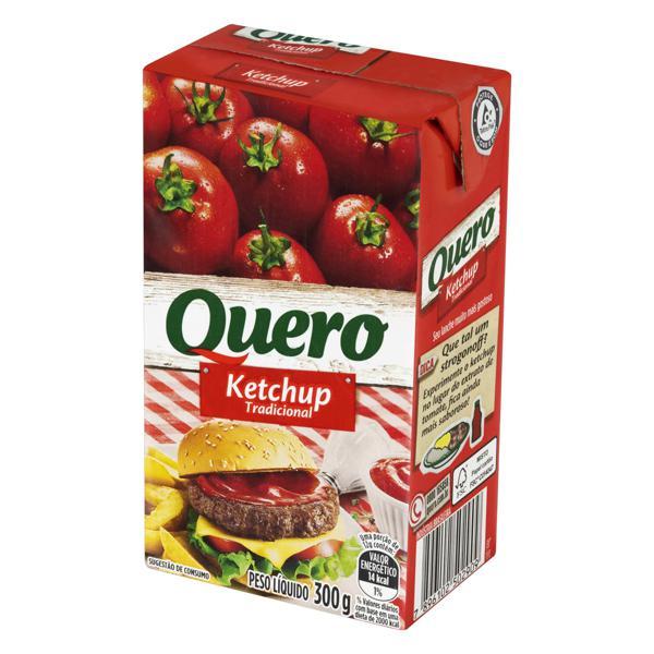 Ketchup Tradicional Quero Caixa 300g