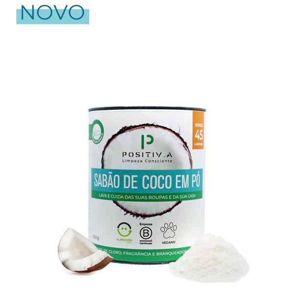 Sabão de coco em pó 450g - Positiva