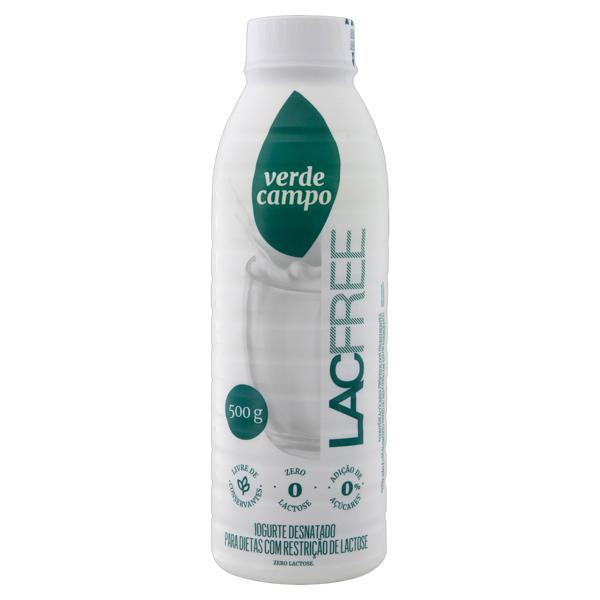 Iogurte Desnatado Zero Lactose Verde Campo Lacfree Garrafa 500g