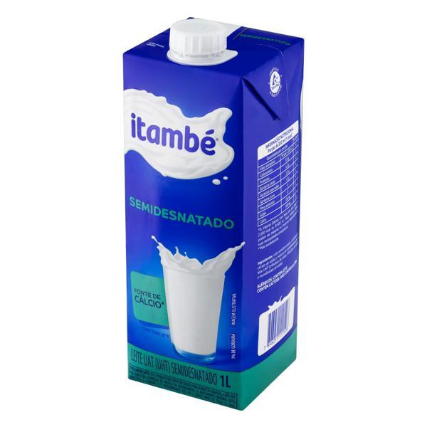 Leite UHT Semidesnatado Itambé Caixa com Tampa 1l