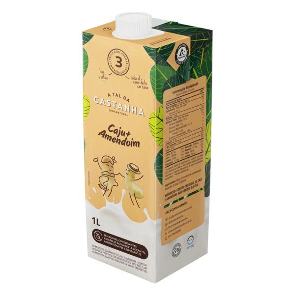 Bebida à Base de Castanha-de-Caju e Amendoim A Tal da Castanha Caixa 1l