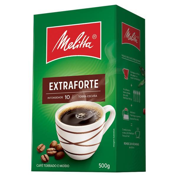 Café Torrado e Moído Extraforte Melitta Caixa 500g