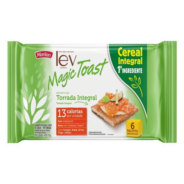 Torrada Integral Marilan Lev Magic Toast Pacote 150g