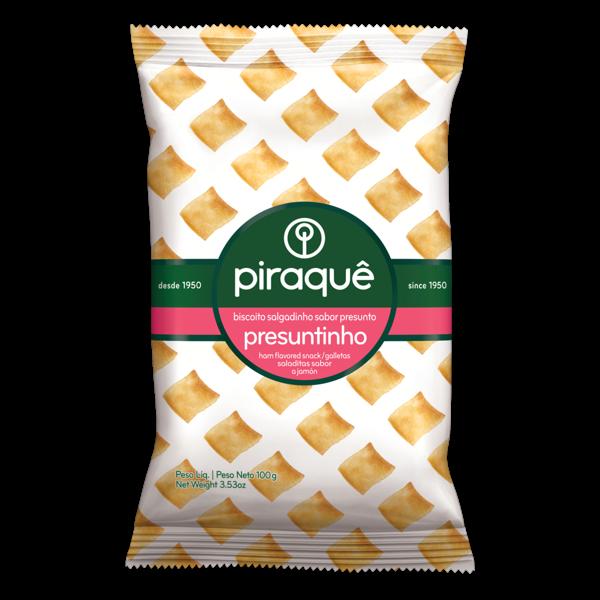 Biscoito Salgadinho Piraquê Sabor Presunto 100g