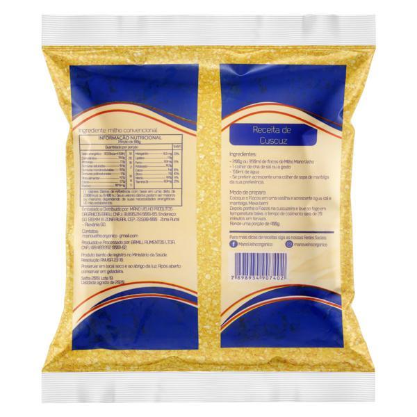 Farinha de Milho Flocos para Cuscuz Mano Velho Pacote 500g