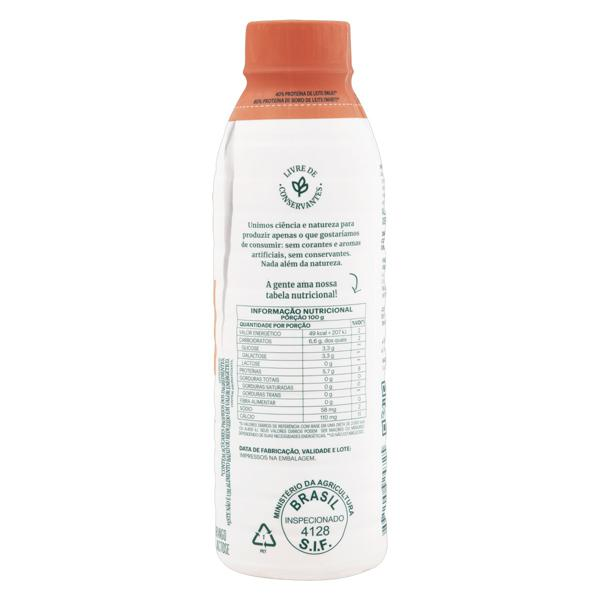 Iogurte Desnatado Morango Zero Lactose Verde Campo Natural Whey 28g de Proteína Garrafa 500g