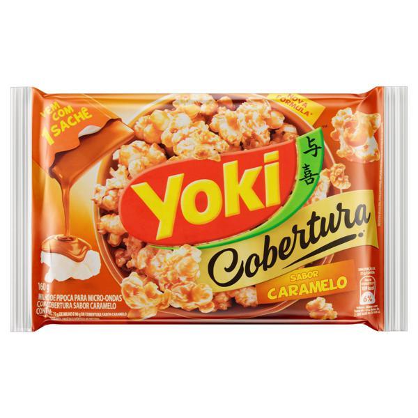 Pipoca para Micro-Ondas Cobertura Caramelo Yoki Pacote 160g