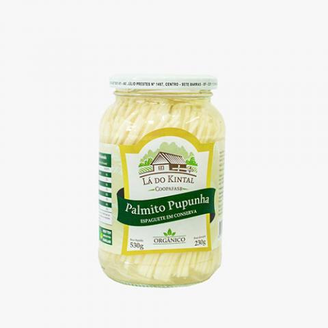 Palmito Pupunha Espaguete em Conserva Orgânico 300g - La do Kintal