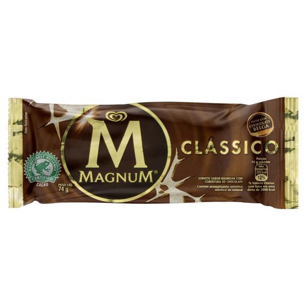 Sorvete Clássico Magnum Pacote 74g