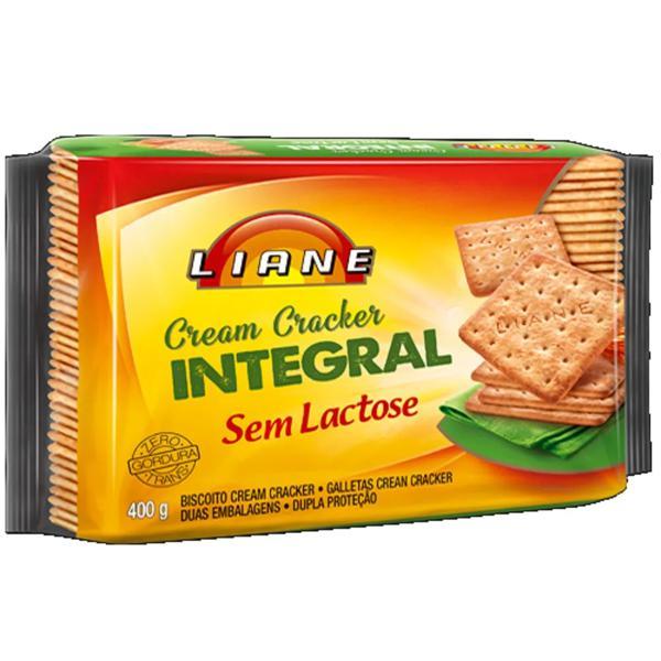 Biscoito Cream Cracker LIANE Integral 400g