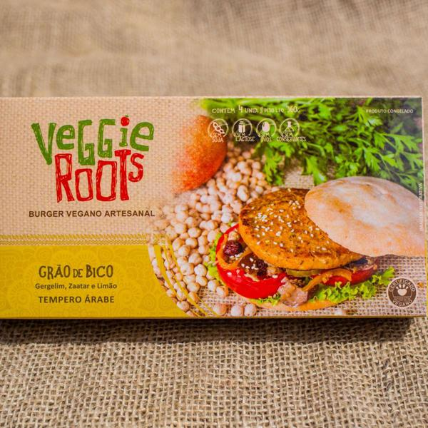 Burger Vegano Árabe, 4 unidades de 90g, total 360g - Veggie Roots