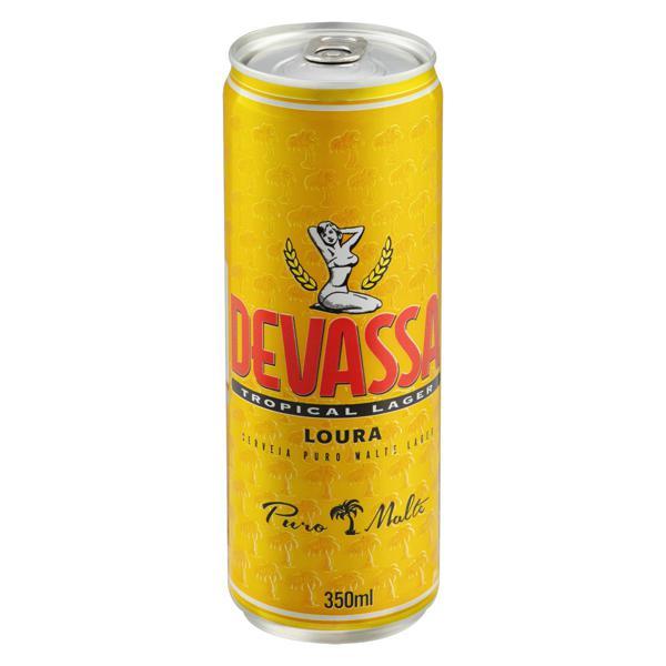 Cerveja Lager Puro Malte Tropical Devassa Lata 350ml
