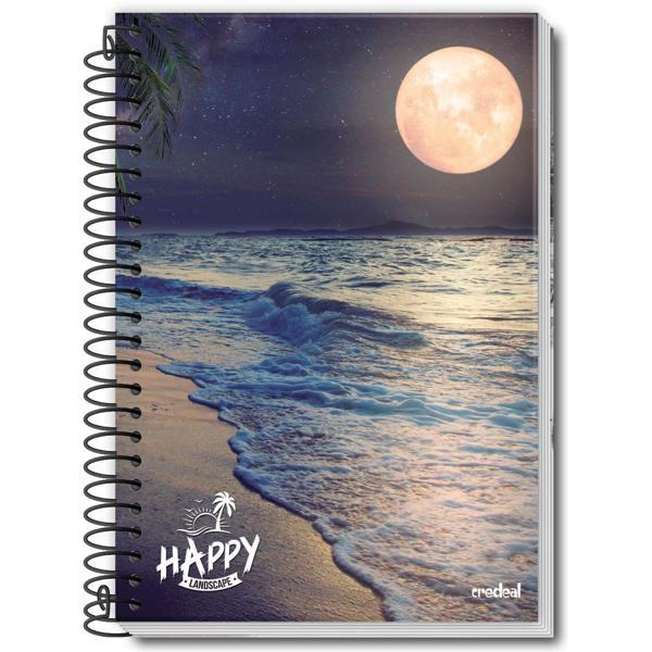 Caderno Espiral Credeal Happy Adventure 200 folhas 10 Matérias Capa Dura Universitário Ref:974