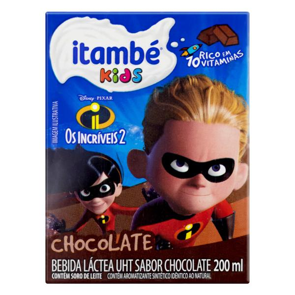 Bebida Láctea UHT Chocolate Os Incríveis 2 Itambé Kids Caixa 200ml