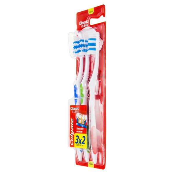 Escova Dental Macia Colgate Classic Clean Leve 3 Unidades Pague 2 Unidades