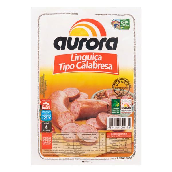 Linguiça Calabresa Cozida e Defumada Aurora Pacote 400g