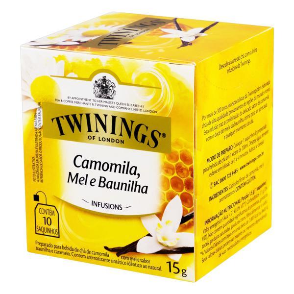 Chá Camomila, Mel e Baunilha Twinings Infusions Caixa 15g 10 Unidades