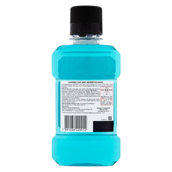 Enxaguante Bucal Antisséptico Hortelã Listerine Cool Mint Frasco 250ml