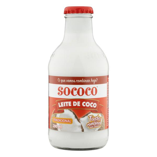 Leite de Coco Tradicional Sococo Vidro 200ml