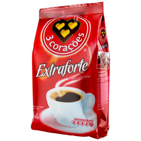 Café Torrado e Moído Extraforte 3 Corações Pacote 500g