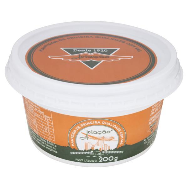 Manteiga com Sal Aviação Pote 200g