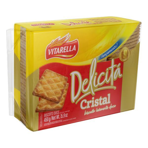 Biscoito Vitarella Delicitá Cristal Pacote 450g