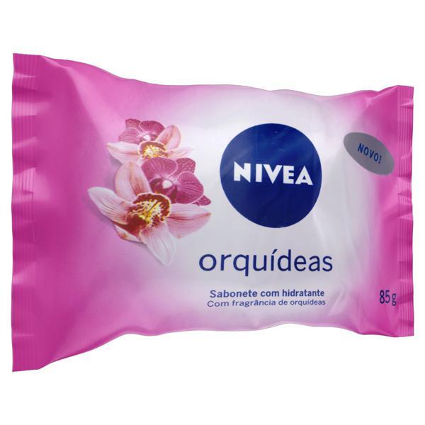 Sabonete em Barra Hidratante Orquídeas Nivea Pacote 85g