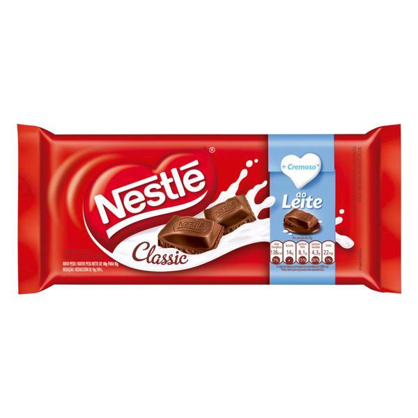 Chocolate ao Leite Nestlé Classic Pacote 90g