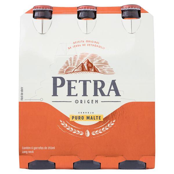 Pack Cerveja Lager Puro Malte Petra Origem Garrafa 6 Unidades 355ml Cada