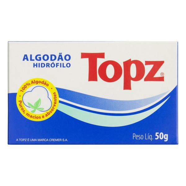 Algodão Hidrófilo Topz Caixa 50g
