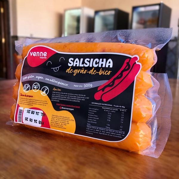 Salsicha vegana de grão de bico 300g - Venne Vegan