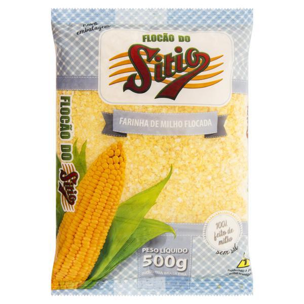 Farinha de Milho Flocão sem Sal Sítio Pacote 500g
