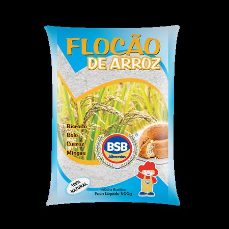 Flocão de arroz BSB 500g flocao