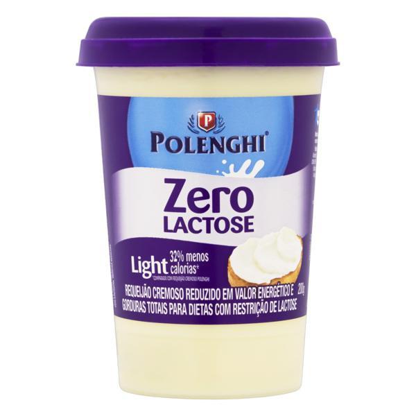Requeijão Cremoso Light Zero Lactose Polenghi Copo 200g