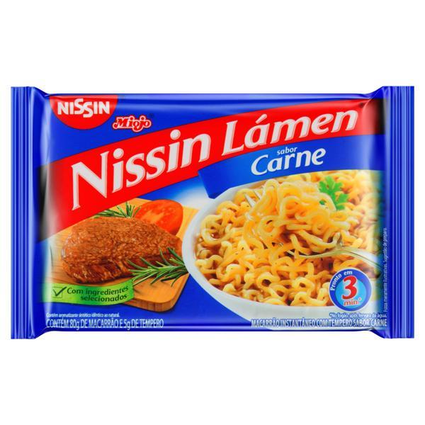 Macarrão Instantâneo Carne Nissin Miojo Lámen Pacote 85g