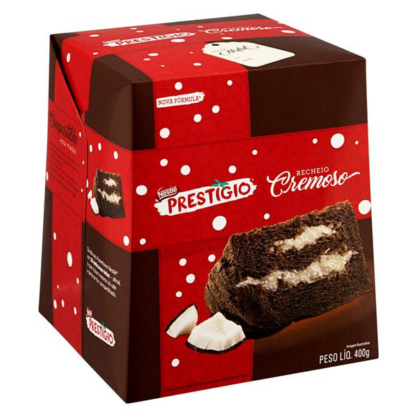 Panetone Chocolate Recheio Coco Nestlé Prestígio 400g
