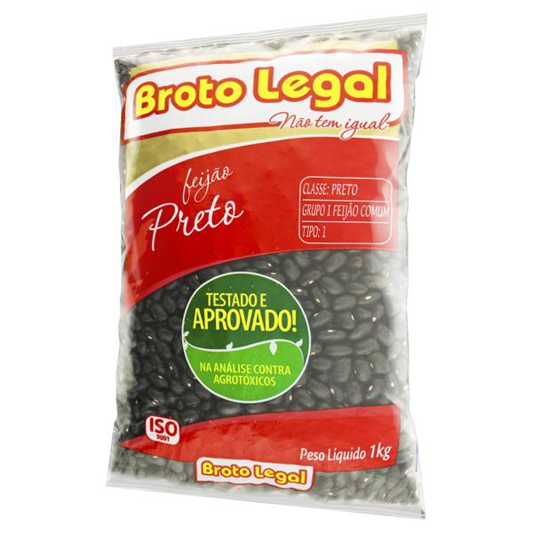 Feijão Preto Tipo 1 Broto Legal Pacote 1kg