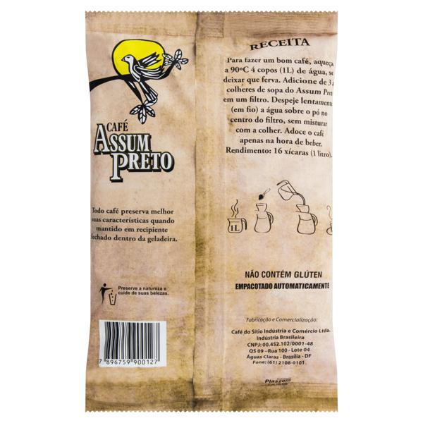 Café Torrado e Moído Tradicional Café Assum Preto Pacote 250g