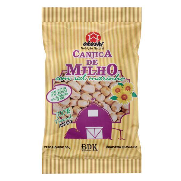 Canjica de Milho com Sal Marinho Okoshi Pacote 50g